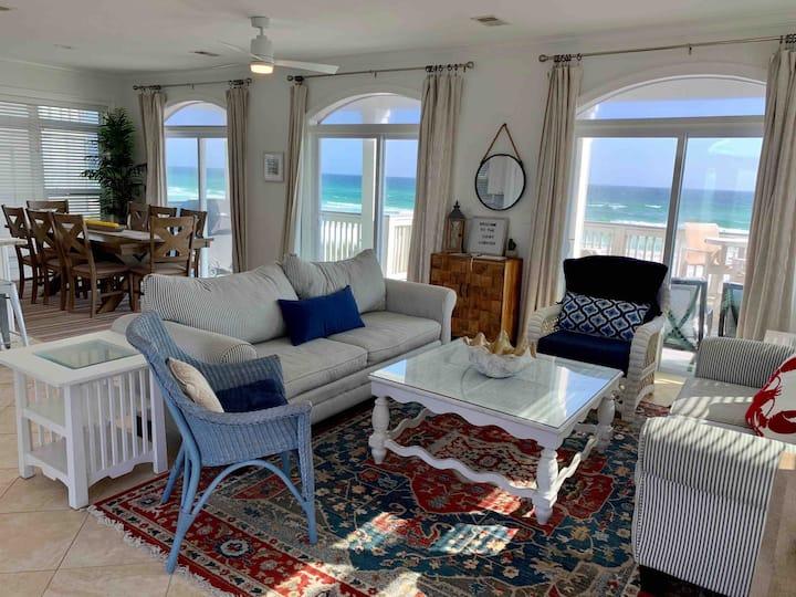 Lucky Lobster Beach House.  Oceanfront paradise