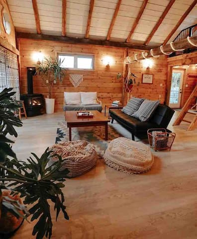 cozy living room with propane fire place
