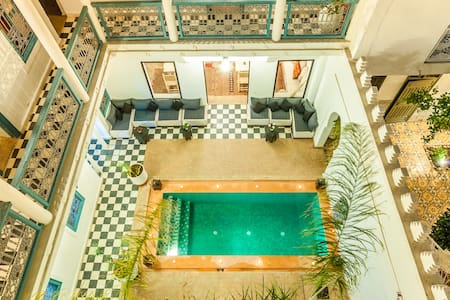 room at single or double price in a typical riad - Marrakesh - Bed & Breakfast