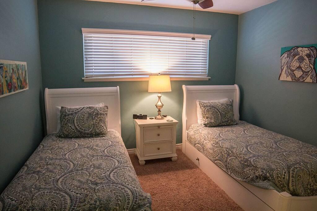 """Two queen beds in """"kids bedroom"""""""