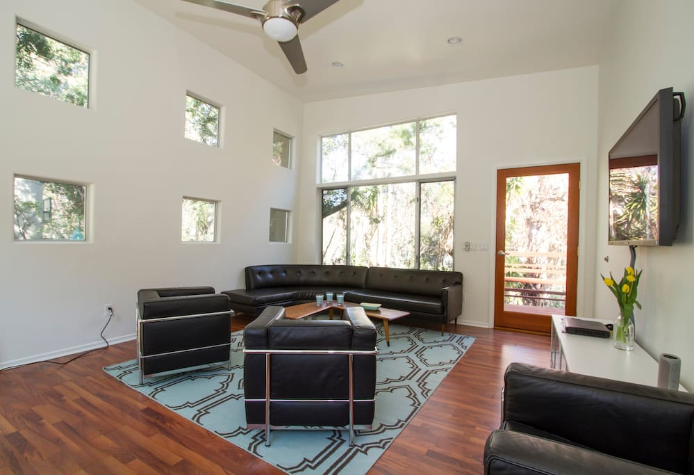 Spacious great room with soaring ceilings