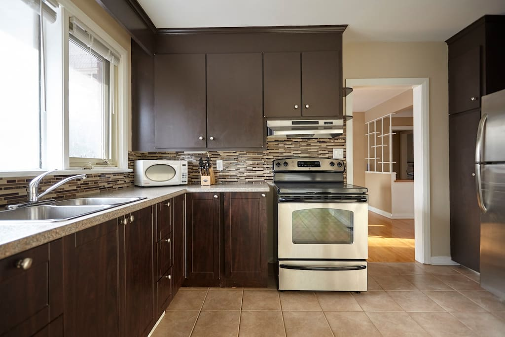 Kitchen - has everything you need. Stove, oven, fridge, microwave, dishwasher, coffee maker.