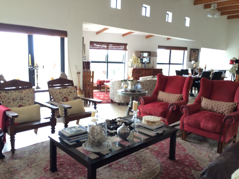 View from larger living area