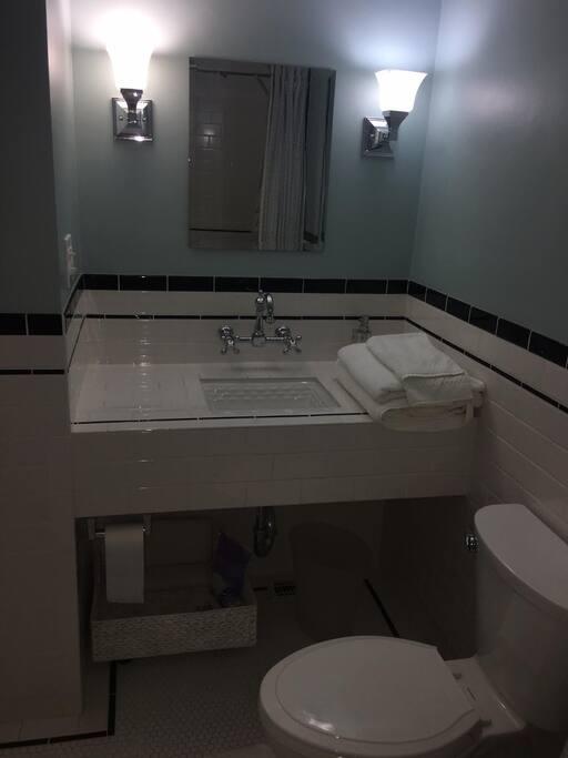 Private bath down the hall