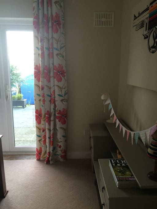 Double bedroom opening onto patio with wonderful views of the coast.