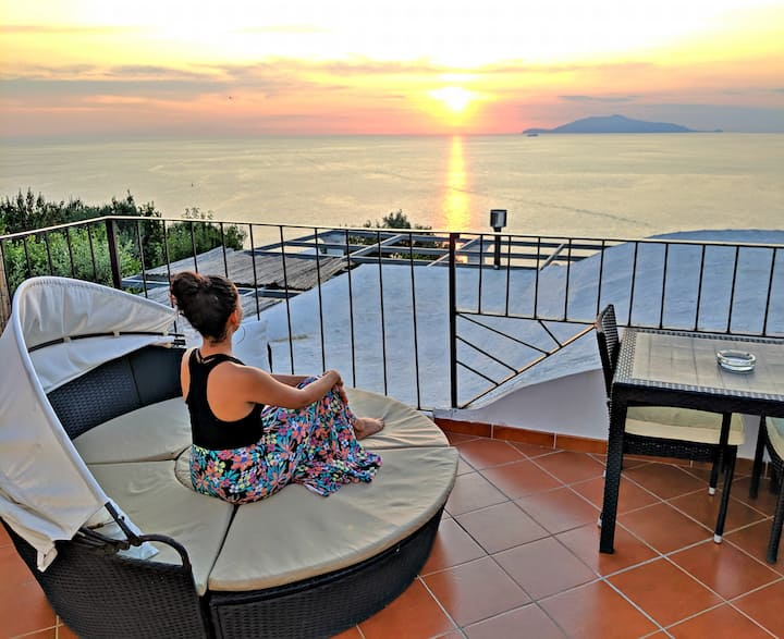 Private terrace Enjoy the Sunset: Grotta Azzurra
