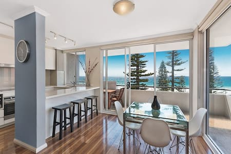 Luxury absolute beachfront apartment with parking - Manly