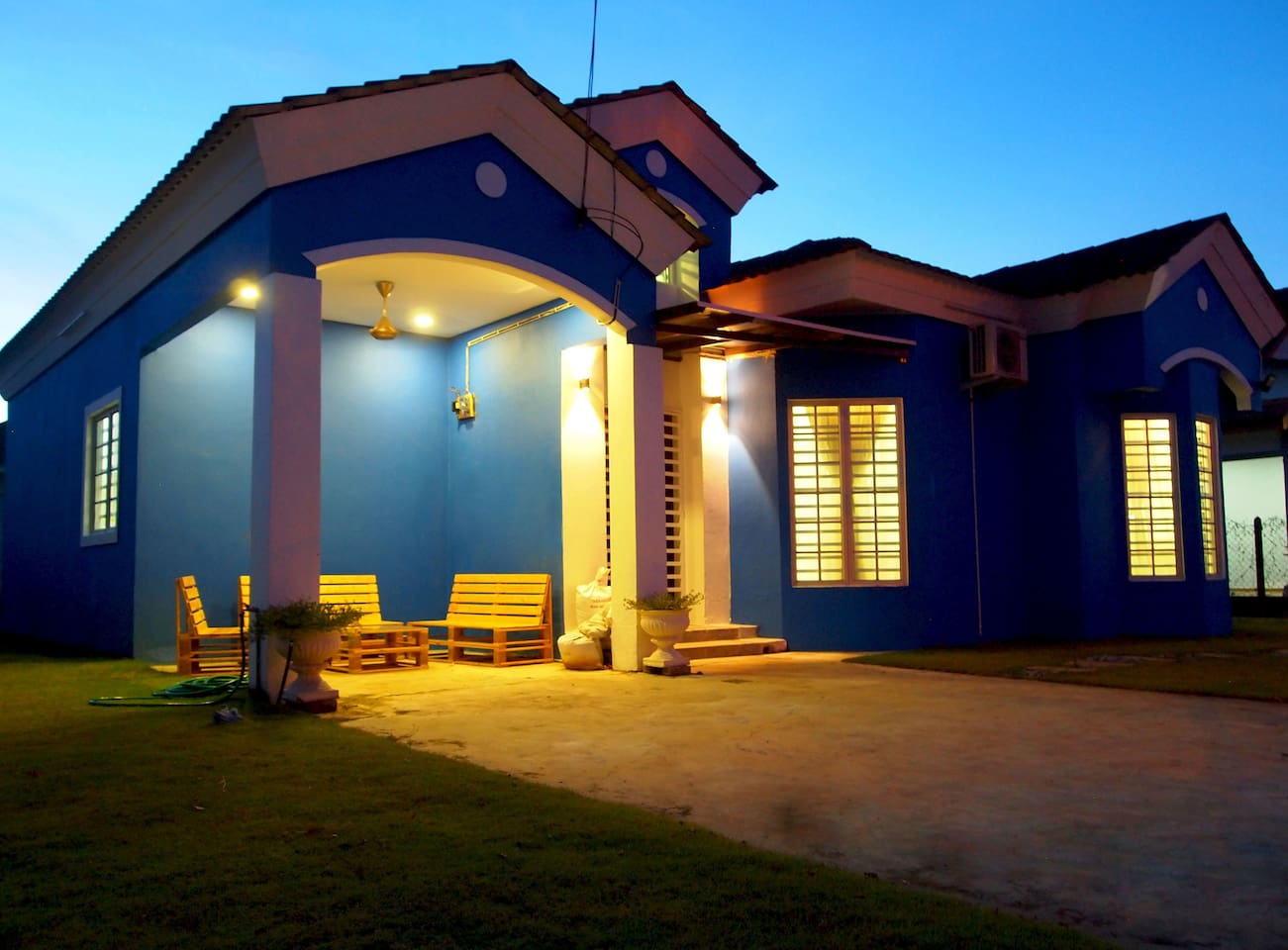 Front yard - Night View