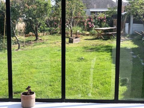 Agréable maison avec jardin