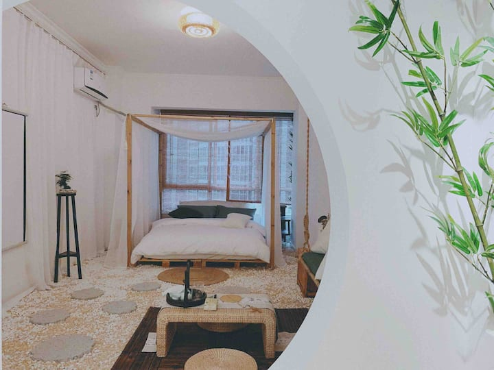 【Dream house】新中式庭院风/极米巨幕投影/南湖/华商/客运站/万达广场
