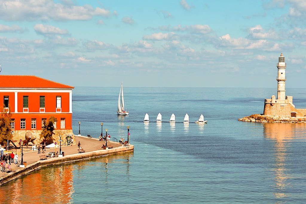 Chania , the old harbour. It is advisable to rent a car and explore Crete