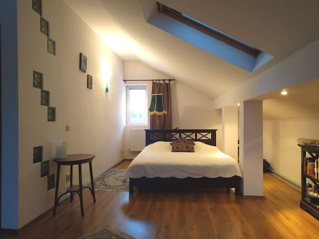 Cozy attic room in modern house with backyard. - București - Talo