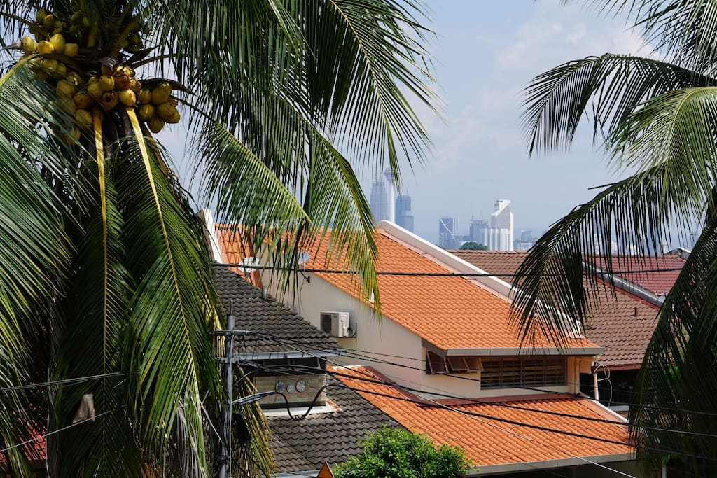 View of KLCC and KL tower from the balcony.