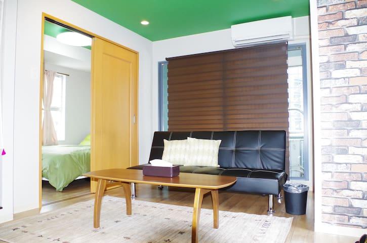 NEW★Designers Apt USJ 12min NAMBA 5min★Cozy room - Nishi-ku, Ōsaka-shi - Lägenhet