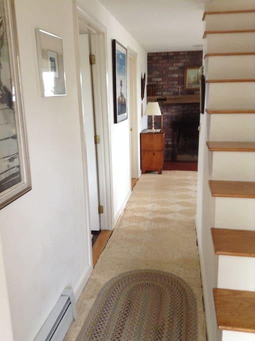 Hallway, from front door