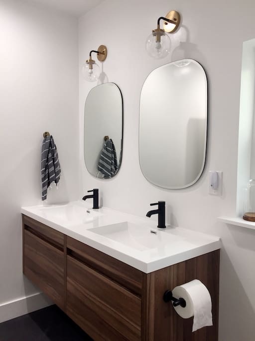 Brand New Master Bathroom with Luxury Linens