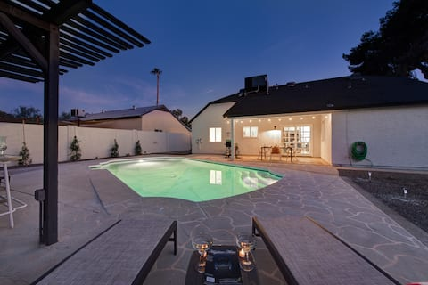 Designer's Dream home with Private HEATED POOL