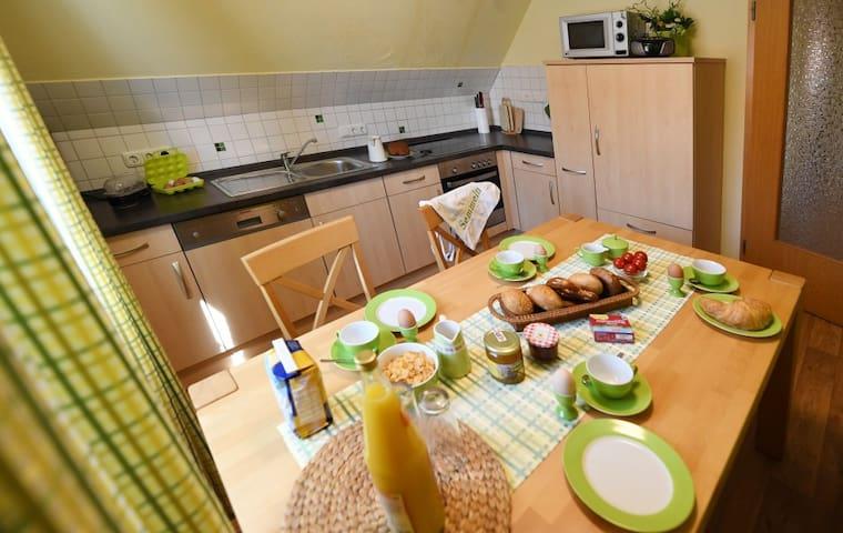 Ferienbauernhof Schuler (Gunzenhausen), Ferienwohnung Gänseblümchen mit Küche und Safe