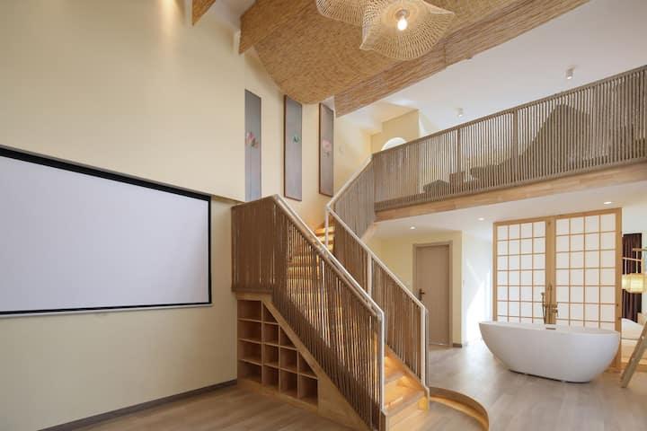 【梵高先生】墨意 万象城 复式 loft 浴缸 影院房