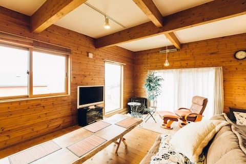 Lake view  log house in LAKE TOYA