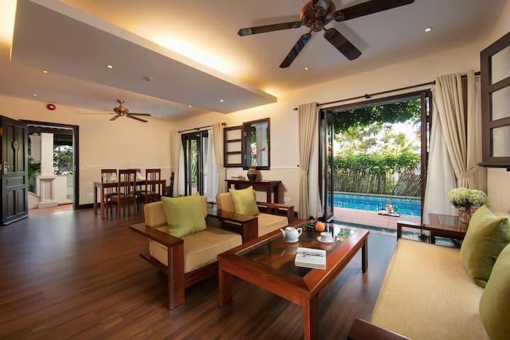 2BR villa with private pool