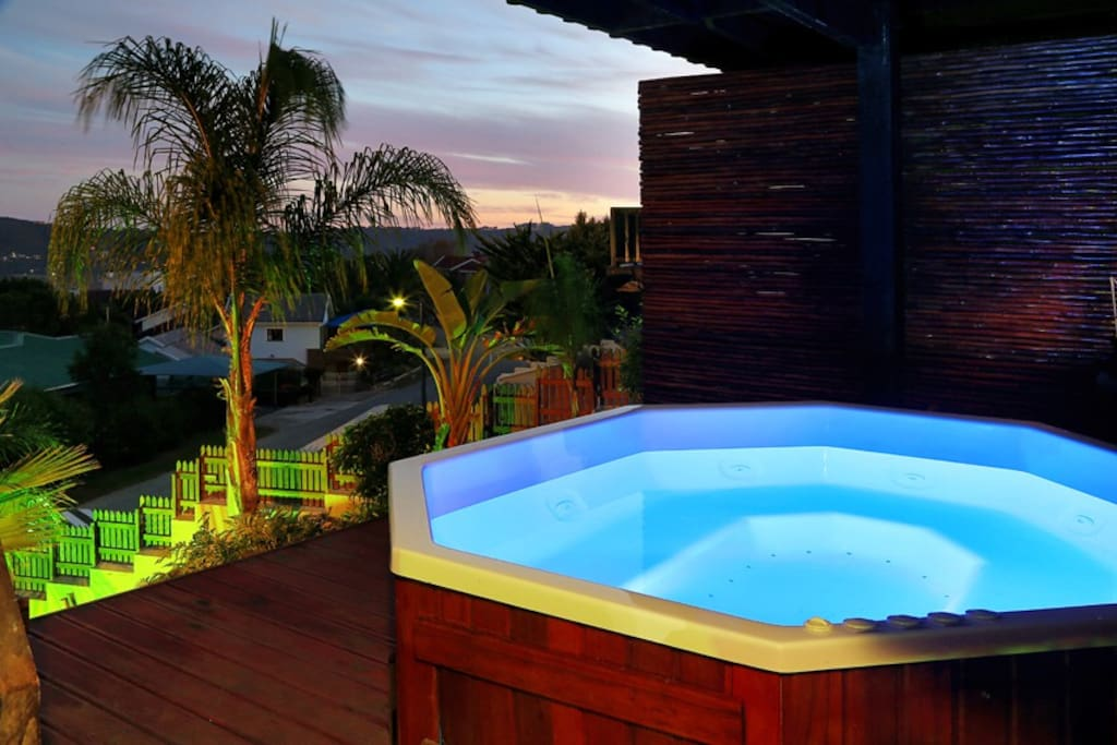 Relax in the jacuzzi, hot tub