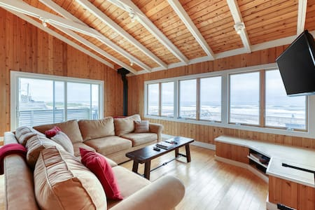 Charming, oceanfront home w/ stunning views & wraparound deck - steps from beach