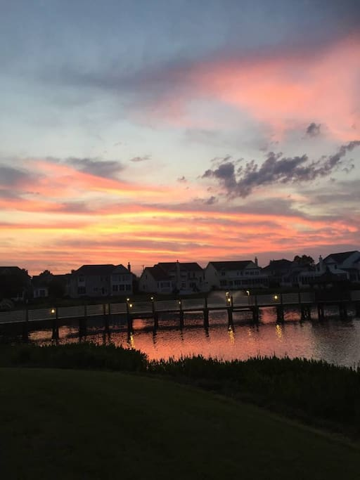 Enjoy the beautiful sunsets on the deck!
