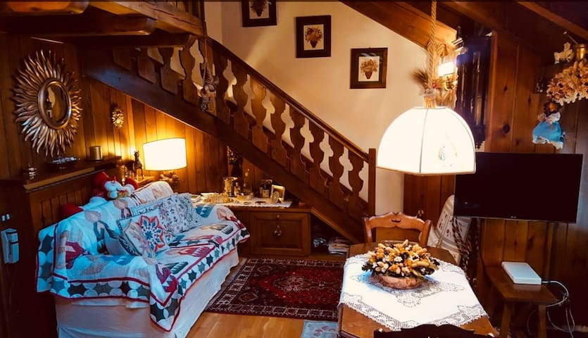 Romantic and lovely tyrolean attic in Cortina