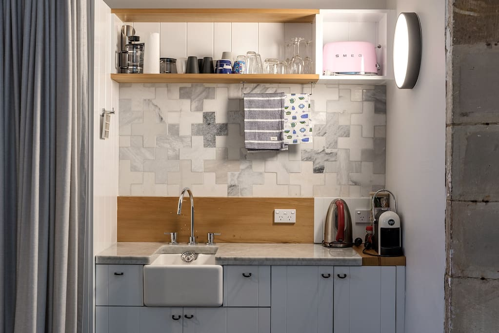 small compact but not a full kitchen