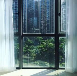 【已清洁消毒】深圳北站 1.8米大床房 深圳出差首选 舒适北欧风公寓 花园小区