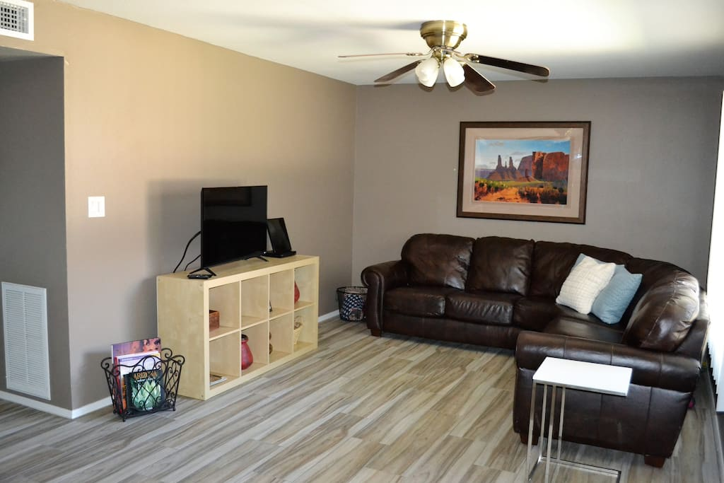 Relaxing Living Room with new Sectional
