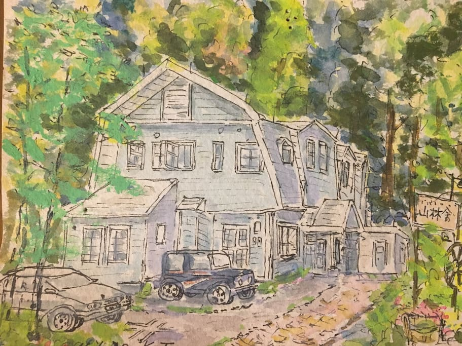 Painting of the chalet
