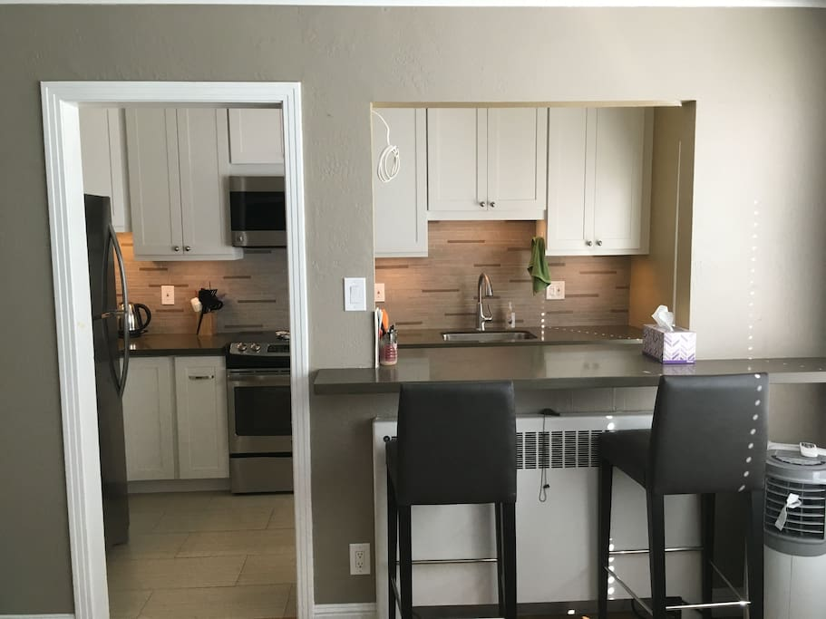 Looking Kitchen from Living/Dinning Rooms