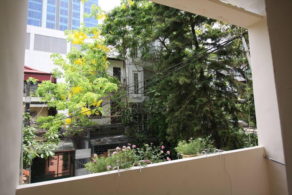 Twin room's balcony