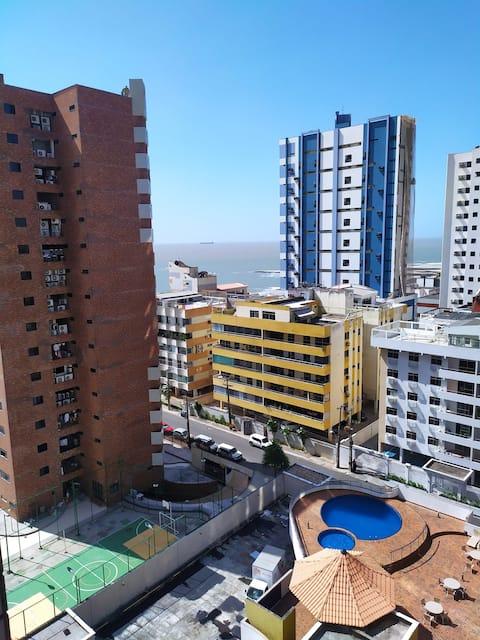 Lindo flat apartamento próximo a praia com vista