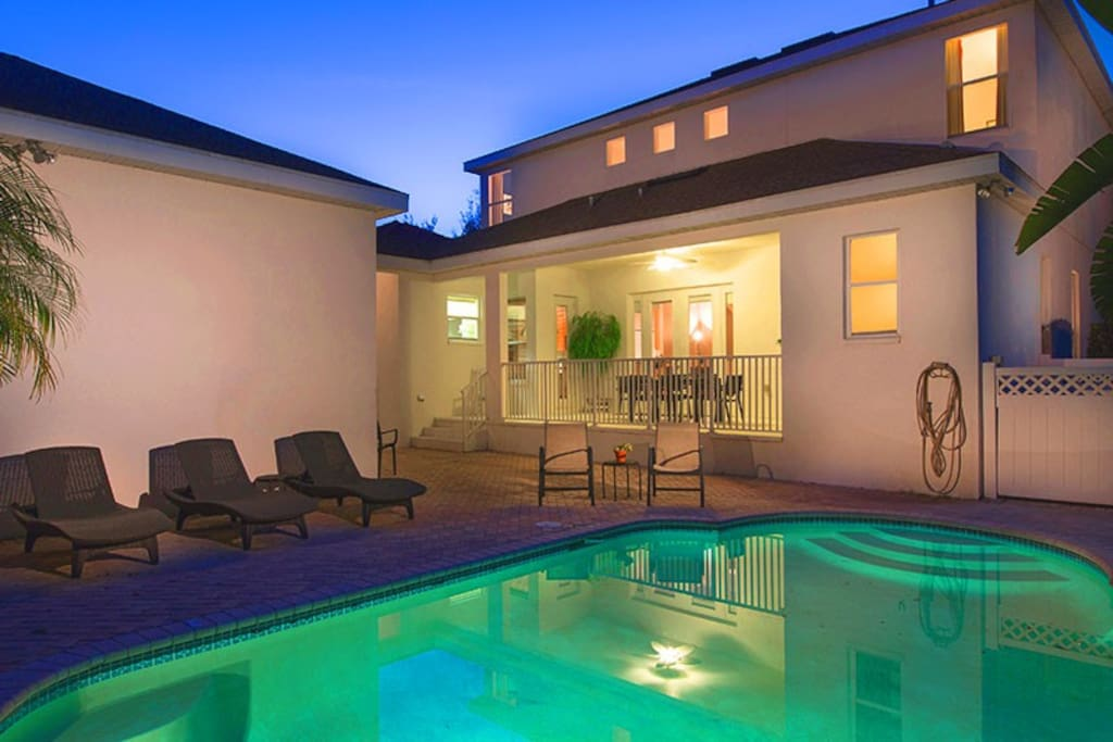 Large Private Pool with Outside Patio Deck