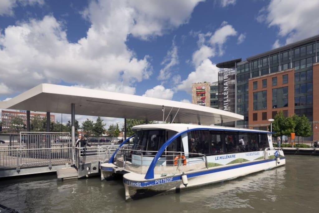 """Navette fluviale gratuite pour un aller-retour rapide au centre commercial """"Le Millénaire"""""""