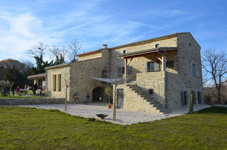 Grande belle maison restaurée avec piscine - Rochebaudin - 獨棟