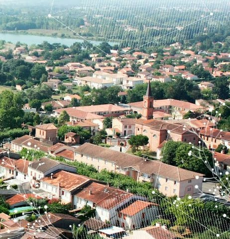 Cosy House 15 mins from Toulouse - Villeneuve-Tolosane - Huis