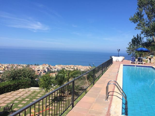 Pool, Garden, View, 4 km from Tropea - Drapia