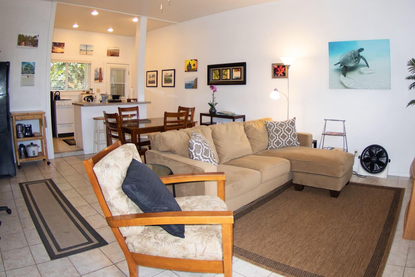 Relax and unwind in the comfy living area.