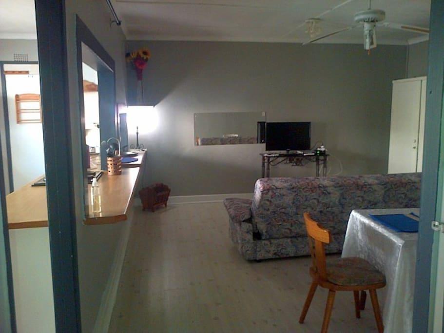 Open plan kitchen lounge in unit 1