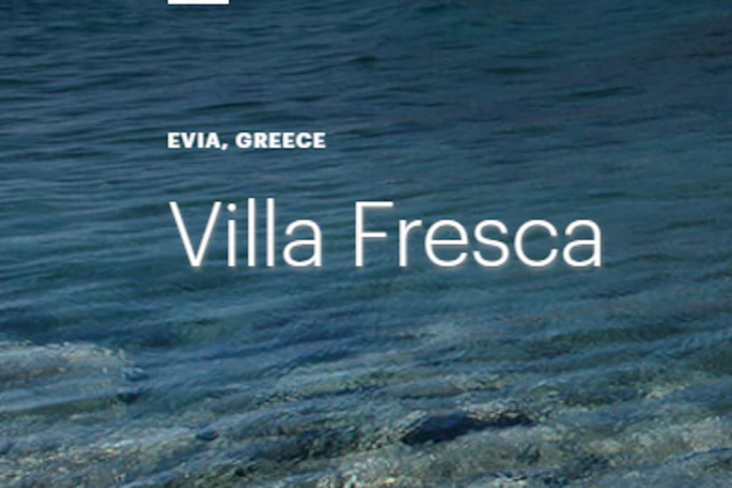 Logo Villa Fresca meaning: fresh, cool, coolness