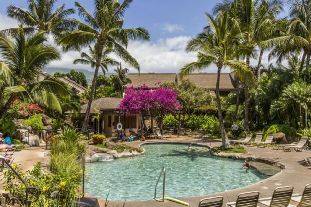 Located on over 20 acres of tropical landscape - Maui Kamaole has two pools