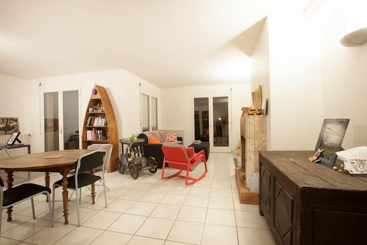 Chambre Noyal dans grande maison avec bureau - Noyal-sur-Vilaine - Hus