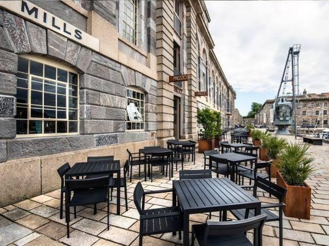dining at Royal William Yard
