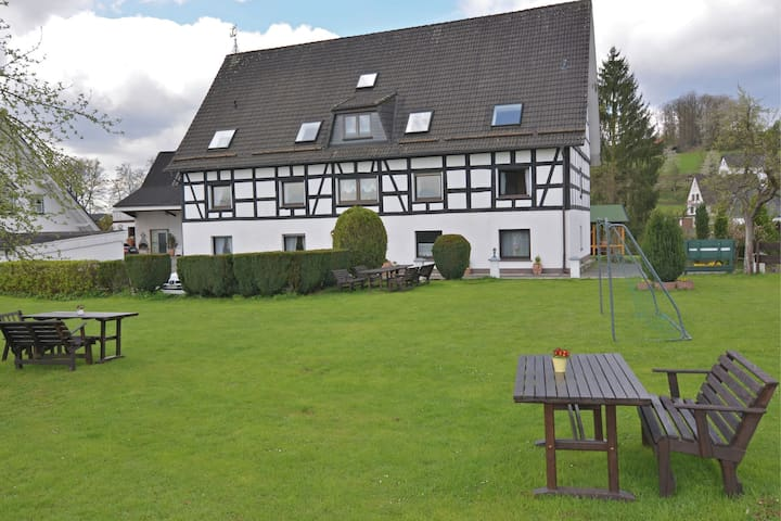 Beautiful apartment with use of the garden and pool in Attendorn in the Sauerland region