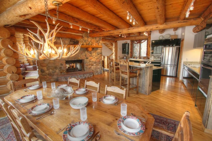Best location in Telluride?  4 bedroom 6,500 sqft log ski-in/out home.