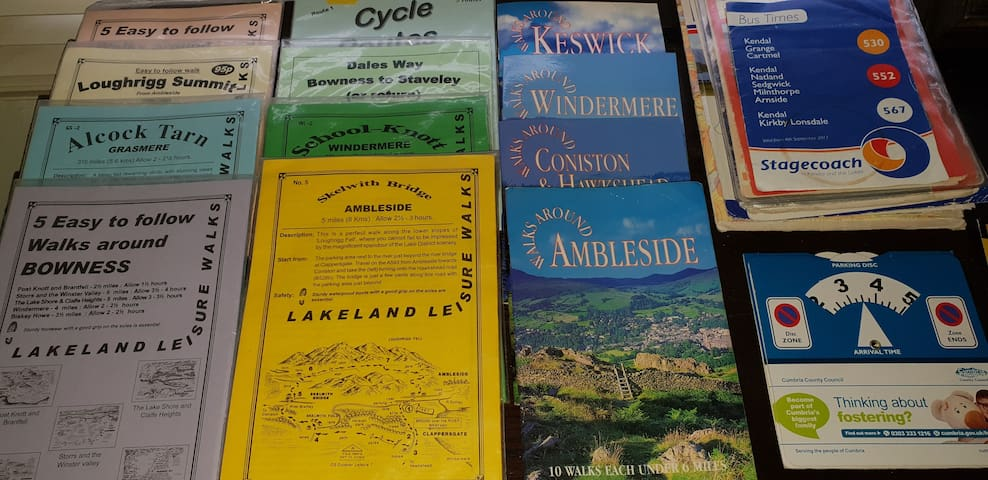 Guide books available for your use